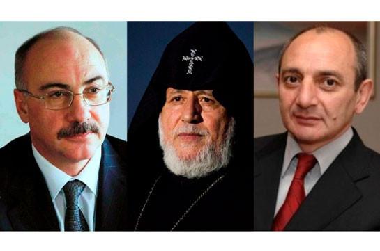 Ամենայն Հայոց Կաթողիկոսը հանդիպել է Արցախի Հանրապետության նախկին նախագահների հետ