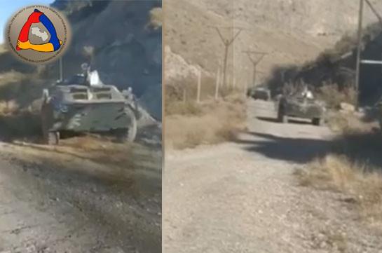 Кадры уничтоженной на южном направлении азербайджанской бронетехники (Видео)