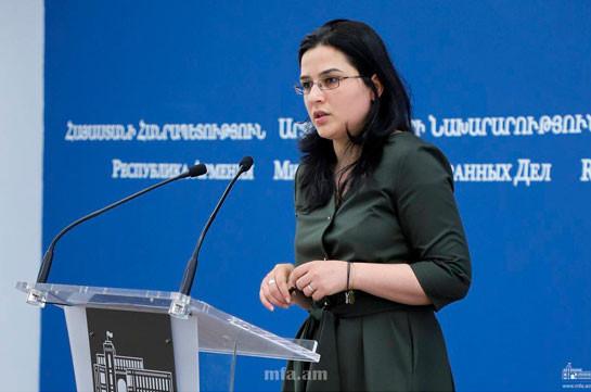 Армения и Арцах, в отличие от двух наших соседей, не принимают у себя террористов, а борются против них – пресс-секретарь МИД Армении