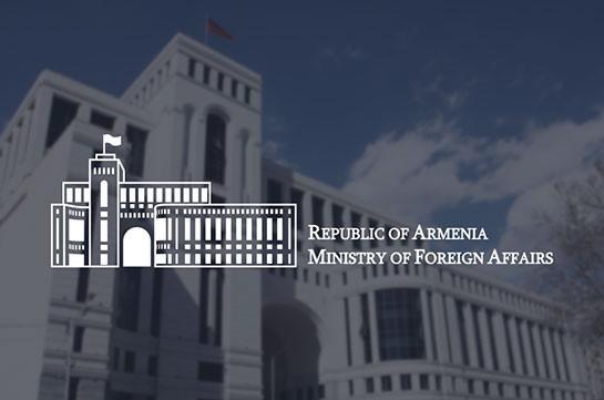 Armenia's MFA: Azerbaijan launched campaign based on falsification and fabrications to mislead the international community