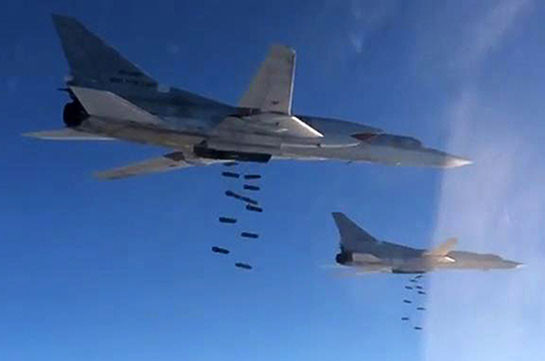 Ռուսաստանի ավիացիան զանգվածային հարվածներ է հասցնում Սիրիայում ահաբեկիչներին