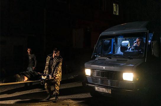 Azerbaijan shells Stepanakert a while ago