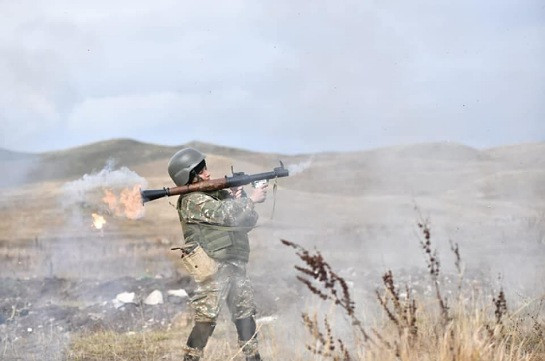 Intensive fights ongoing in Shushi-Karintak sector, Azeri forces retreated after suffering losses