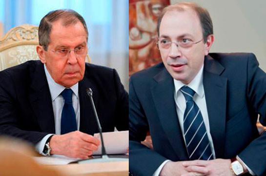 Главы МИД Армении и России заявили о готовности развивать армяно-российскио союзничество