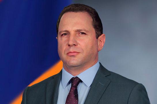 Armenia's Defense Minister Davit Tonoyan sacked - official