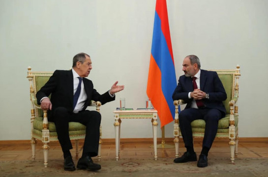 Armenia's PM says had substantive conversation with Russia's FM