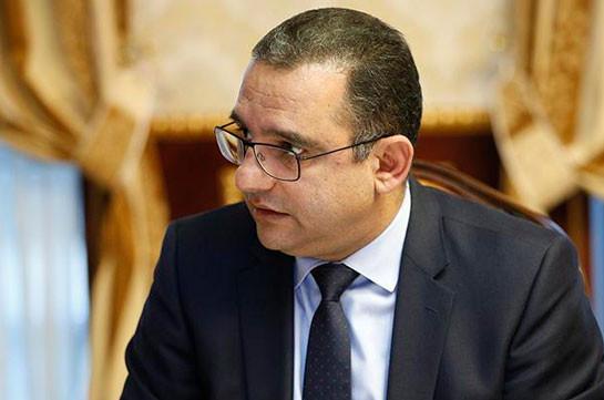 Министр экономики Армении написал заявление об отставке