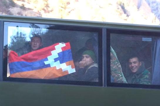 Հայկական զորախումբը դուրս է բերվում Քարվաճառից (Տեսանյութ)
