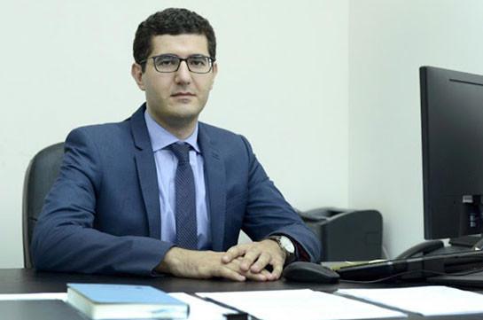 Рафик Григорян освобожден от должности первого заместителя министра юстиции