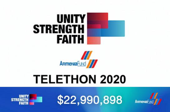 Հեռուստամարաթոն 2020-ի արդյունքում 22.990.898 ԱՄՆ դոլար է հանգանակվել