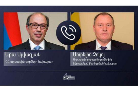 ՀՀ ԱԳ նախարարը մոլդովացի գործընկերոջը ներկայացրել է Ադրբեջանի կողմից Արցախի դեմ սանձազերծված պատերազմի հետևանքով ստեղծված իրավիճակը