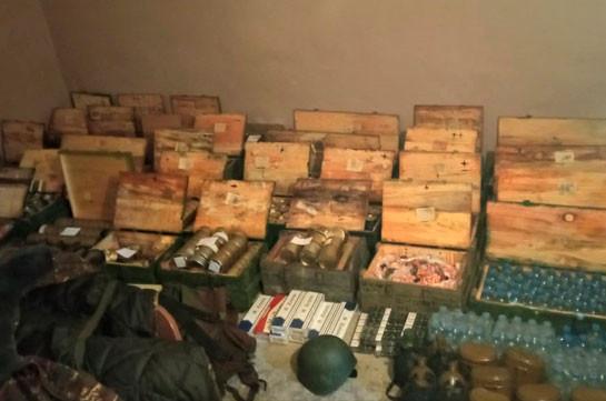 Պահեստազորային ծառայողի ավտոմեքենայում հայտնաբերվել է ՊՆ կարիքների համար նախատեսված սննդամթերք և պարագաներ