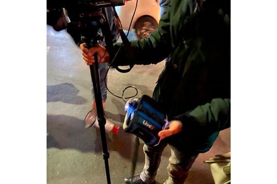 Police use force against Yerkir Media TV operator (photo)