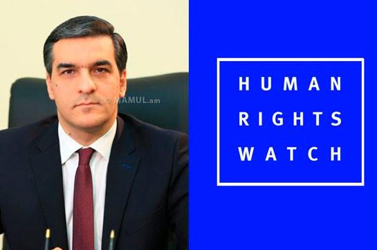 Human Rights Watch. Ադրբեջանական զինված ուժերը հայ գերիների նկատմամբ կիրառել են հարկադրանք՝ ունենալով նրանց նվաստացնելու դիտավորություն