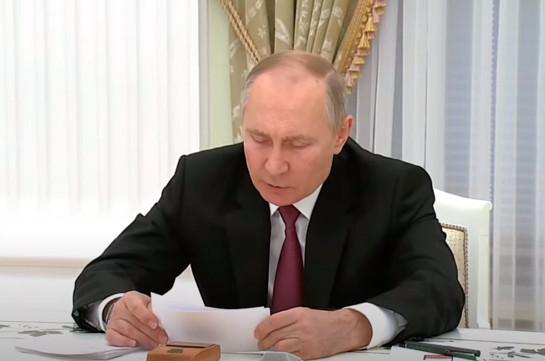 Путин поднял вопрос миротворцев на встрече с Алиевым и Пашиняном