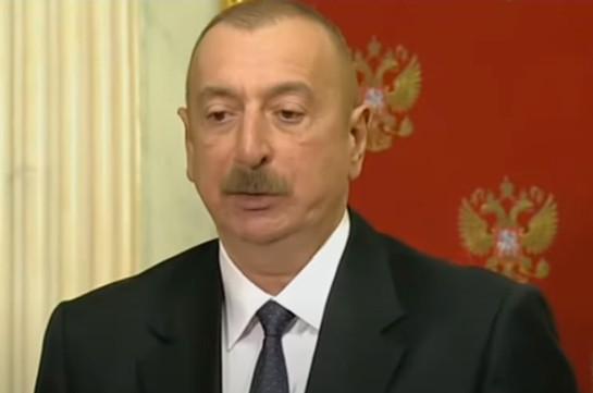 Aliyev – Armenia to have railway communication with Russia through Azerbaijan's territory, Azerbaijan to have entry to Nakhijevan through Armenia's territory