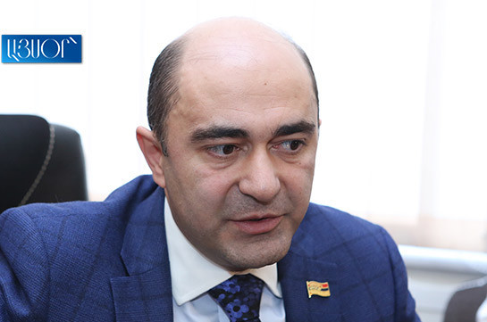 No matter how big the wish is to promote solution of political crisis in Armenia, it is impossible in the atmosphere created by ruling majority – Bright Armenia faction head
