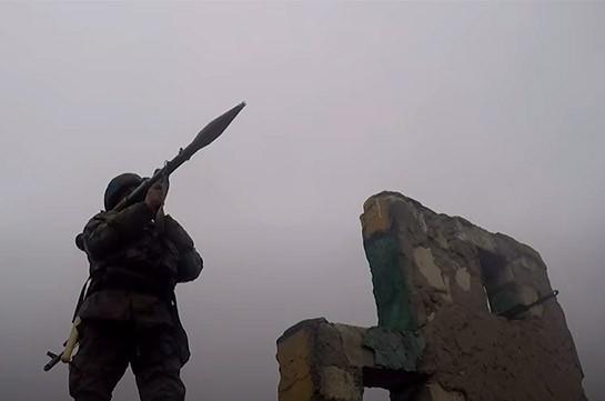 Ռուս խաղաղապահներն Արցախում անցկացրել են կրակային պատրաստության գործնական պարապմունք (Տեսանյութ)