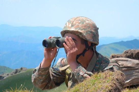 Հայ-ադրբեջանական շփման գծի ամբողջ երկայնքով օպերատիվ իրավիճակը չի փոփոխվել