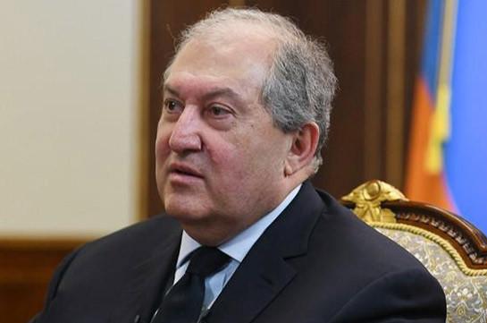 Armenia's president returns from London