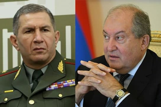 Armenia's President doesn't sign PM's draft decree to release Chief of Armenian Armed Forces Onik Gasparyan, returns with objections