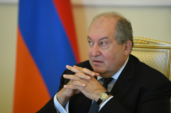 Political fight must not turn into confrontation and splitting – Armenia's president