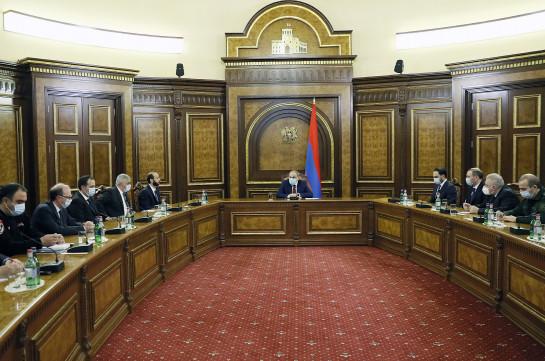 Armenia's PM convenes Security Council session
