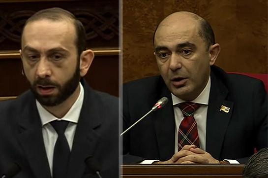 Вы должны либо извиниться, либо подать в отставку – Эдмон Марукян