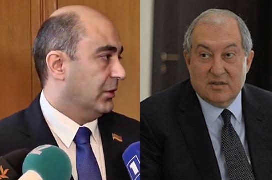 Эдмон Марукян и Армен Саркисян обсудили пути выхода из внутриполитической кризисной ситуации