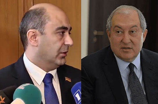 Bright Armenia faction head, Armenia President discuss situation in the country