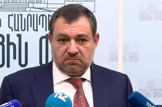 Հրաժարական տալու մտադրություն չունեմ. Ռուբեն Վարդազարյան