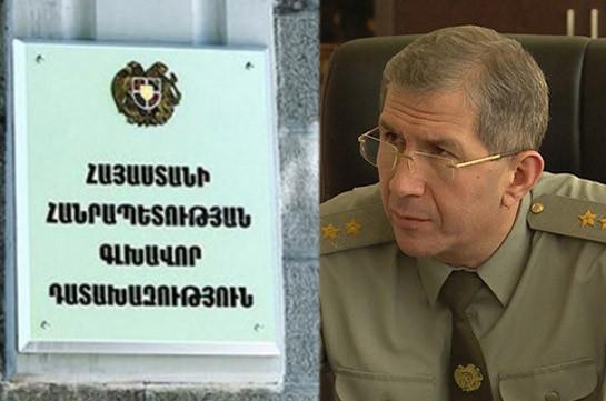 Prosecutor General's Office says no criminal case filed against Onik Gasparyan