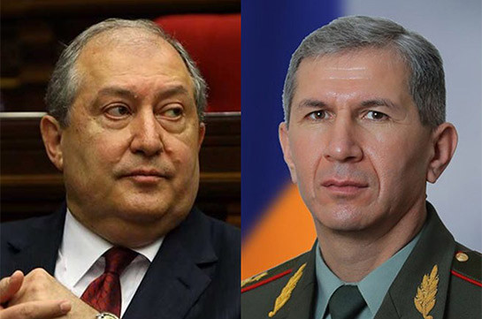 Armenia's President meets Chief of General Staff of Armed Forces