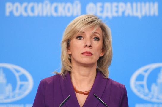 Россия не вмешивается во внутренние дела Армении, заявила Захарова