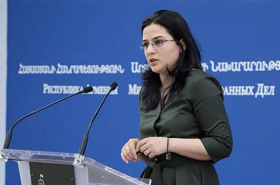 Զանգեզուրն անվանելով «ադրբեջանական պատմական տարածք», Ալիևը դիտավորյալ տապալում է եռակողմ հայտարարությունների իրագործումը. ԱԳՆ խոսնակ