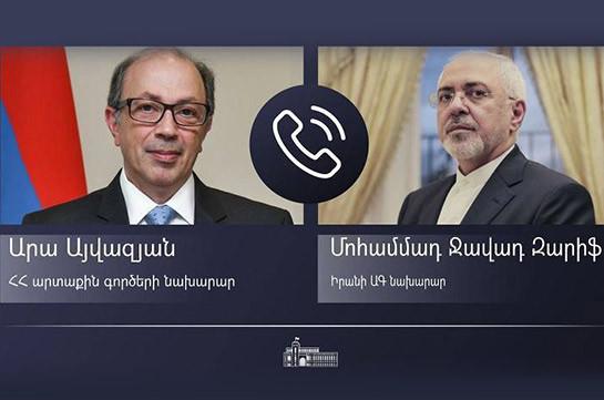 Արա Այվազյանը հեռախոսազրույց է ունեցել Իրանի ԱԳ նախարար Մոհամմադ Ջավադ Զարիֆի հետ
