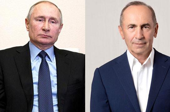 Kremlin confirms phone conversation between Russia's Putin and Armenia's second president Robert Kocharyan
