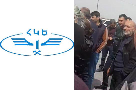 Relatives of captives close a sector of Yerevan-Gyumri railway
