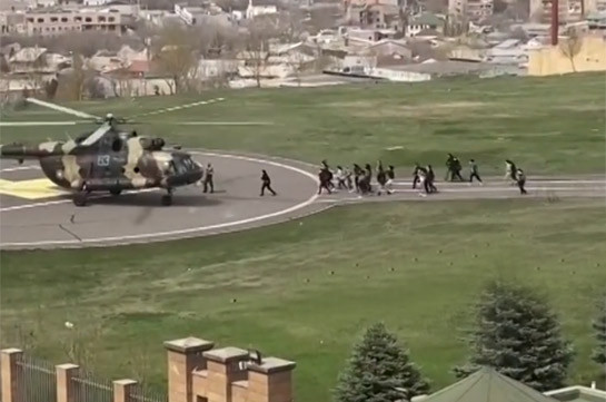 MOD staff evacuated from the building on helicopter (video)