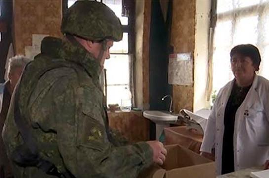 Ռուս խաղաղապահները մարդասիրական բեռ են հասցրել Լեռնային Ղարաբաղի Վարդաձոր բնակավայրի բնակիչներին