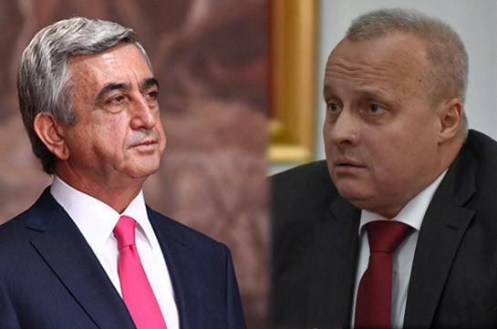 Armenian third president, Russian ambassador meet