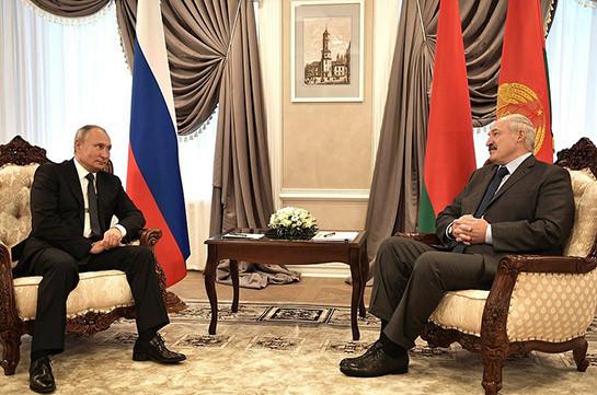 Պուտինը և Լուկաշենկոն քննարկել են երկկողմ հարաբերությունները և իրավիճակը Ղարաբաղում