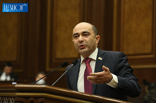 You cut country's population by 10%, ruined economy, army, diplomacy – Marukyan to authorities