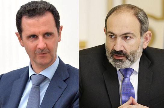 Լիահույս եմ՝ Սիրիայի ժողովուրդը շուտափույթ կհաղթահարի ծանր ճգնաժամի հետևանքներն ու կընթանա խաղաղության և կայունության ուղիով. Փաշինյանն ուղերձ է հղել  Բաշար Ալ-Ասադին