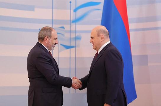 Мишустин на встрече с Пашиняном предложил подготовить новые инициативы для увеличения товарооборота с Арменией