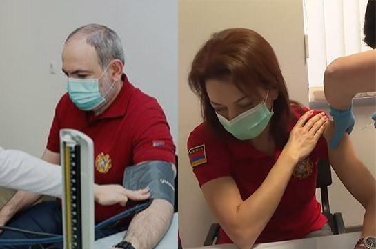 Пашинян и его супруга привились вакциной от коронавируса (Видео)