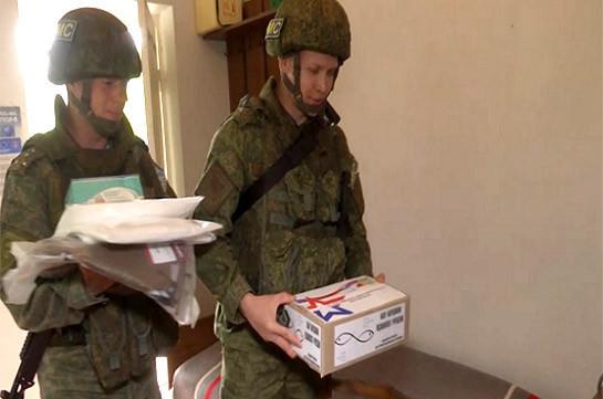 Российские миротворцы передали 50 медицинских наборов для оказания первой помощи в медпункты отдаленных поселков Нагорного Карабаха