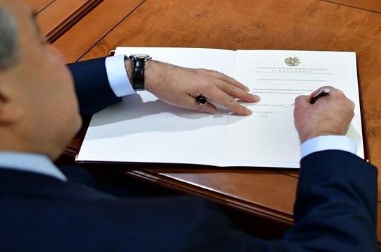 Նախագահը հրամանագիր է ստորագրել Ազգային ժողովի արտահերթ ընտրությունը հունիսի 20-ին անցկացնելու մասին