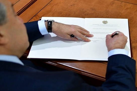 Armenia's snap parliamentary elections to take place on June 20: president signs the decree