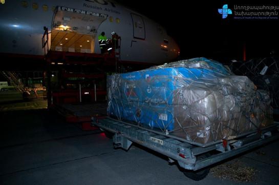 14,000 second doses of Sputnik V vaccine delivered to Armenia